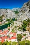 Omis, Dalmatie, Croatie Images libres de droits