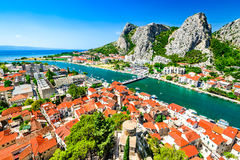 Omis, Dalmatie, Croatie Images stock