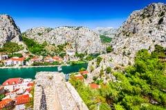 Omis, Dalmatie, Croatie Photos libres de droits
