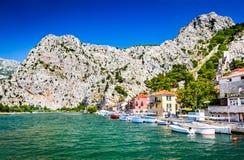 Omis, Dalmatie, Croatie Image libre de droits