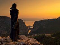 Omis-Kroatien-Dalmatia 4 Arkivbild