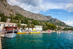 Omis marina in Dalmatia Stock Photo