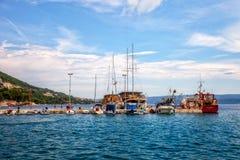 Omis marina in Dalmatia Royalty Free Stock Images