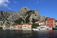 Omis, miasto przy Adriatyckim wybrzeżem obraz royalty free