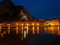 Omis at night Stock Photos
