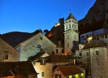 Omis - oude stad in Kroatië Stock Fotografie