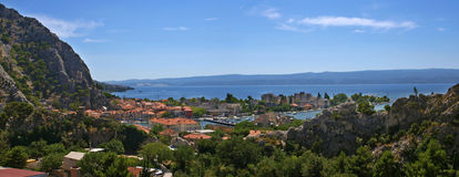 Omis - panorama Royalty Free Stock Images