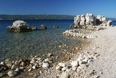 Omis - riviera. Coast near the town of Omis, Croatia, Europe royalty free stock photos