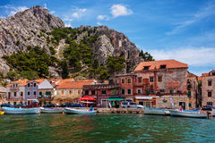 Omis a small tourist town in Dalmatia Royalty Free Stock Image