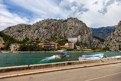 Omis a small tourist town in Dalmatia Stock Photo