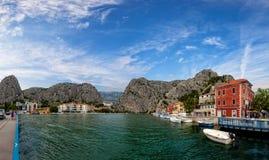 Omis a small tourist town in Dalmatia Stock Photos