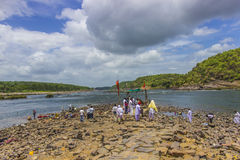 Omkareshwar Narmadarivier - Stock Foto