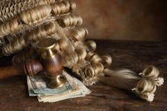 Omkoperij en corruptie voor het gerecht royalty-vrije stock afbeelding