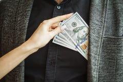 Omkoperijconcept Corruptie Collectieve Bedrijfs Onwettige Spionage royalty-vrije stock foto's