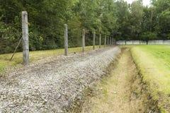 Omkrets i dag Dachau koncentrationsläger Arkivbild