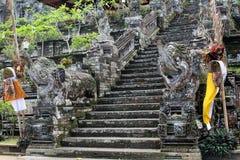 Omkring en av de hinduiska templen för mest härlig Balinese, Pura Ke Fotografering för Bildbyråer