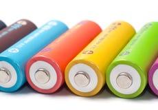 omladdningsbara aa-batterier Royaltyfria Bilder
