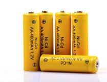 omladdningsbara batterier Arkivbild