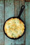 Omleette in skillet Stock Images