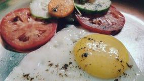 Omlet del huevo Fotos de archivo
