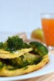 Omlet z brokułami Zdjęcie Royalty Free