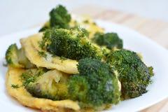 Omlet z brokułami Obrazy Royalty Free