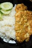 Omlet z ryż na stole Obrazy Royalty Free
