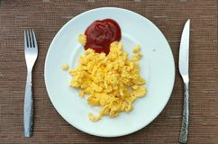 Omlete και πηγή Στοκ Εικόνες