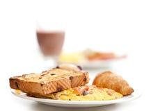 Omlette & prima colazione del pane tostato Fotografia Stock Libera da Diritti