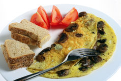 Omlette with mushrooms Royalty Free Stock Image