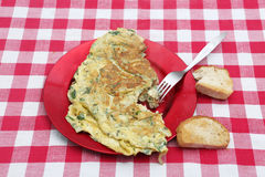 Omlette in a plate Royalty Free Stock Photo