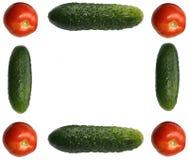 Omlijsting die uit verschillende groenten wordt gemaakt Royalty-vrije Stock Foto's