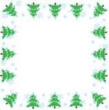 Omlijsting. Kerstbomen Stock Illustratie