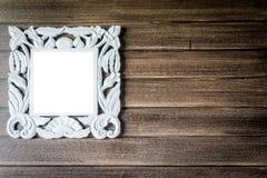 Omlijsting op houten muur Royalty-vrije Stock Fotografie