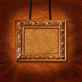 Omlijsting op muur Royalty-vrije Stock Foto