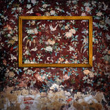 Omlijstingen op concrete muur royalty-vrije stock fotografie