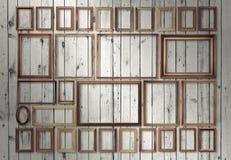 Frames op muur Royalty-vrije Stock Afbeelding