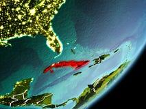 Omloppsikt av Kuban stock illustrationer