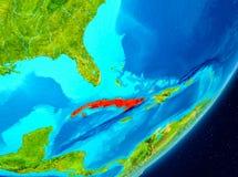 Omloppsikt av Kuban i rött vektor illustrationer