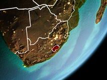 Omloppsikt av Lesotho Arkivfoton