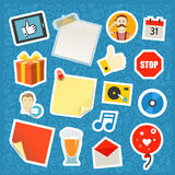Сommnication app stickers set Royalty Free Stock Photo