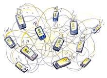 Ommunications móviles del  de Ñ Imagenes de archivo