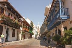 Ommuurde Stad, Cartagena royalty-vrije stock foto