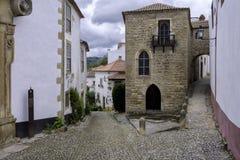 Ommuurde stad, Portugal stock foto's