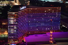 Omni Hotel in Dallas, Texas. The hotels 1001 luxurious guest rooms and heated infinity swimming pool make it a crown jewel in downtown Dallas stock images