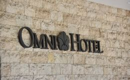 Omni Hotel & Resorts. Omni Hotels & Resorts is an American privately held, international luxury hotel company based in Dallas, Texas royalty free stock photo