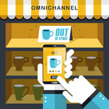Omni-kanal erfarenhetsbegrepp vektor illustrationer