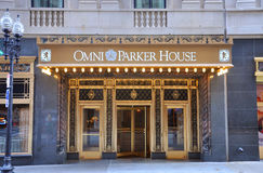 Omni Parker House, Boston. The facade of Omni Parker House, Boston, Massachusetts, USA royalty free stock photos