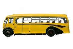 Omnibus amarillo de la vendimia, aislado. Fotos de archivo
