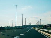 omnibus Autoroute en Croatie Photographie stock libre de droits